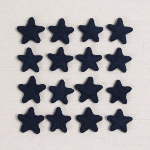 Felt Stars in Midnight