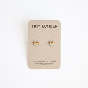 Tiny Lumber Earrings