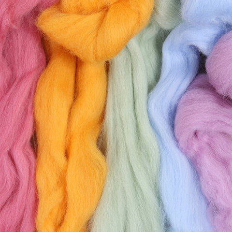 Corriedale wool roving, needle felting