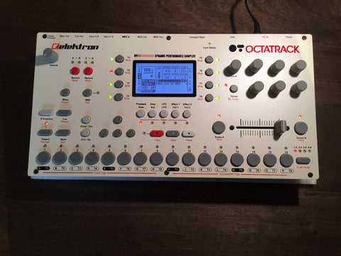 OCTATRACK BLACK AND RED