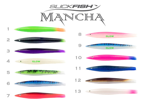 "Mancha Green Stick Baits - 9"" Unrigged"