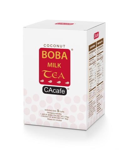 CAcafe Coconut Boba Milk Tea