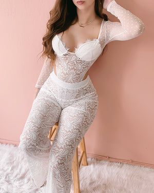 BE MY HONEY 2 PIECE SET (WHITE)