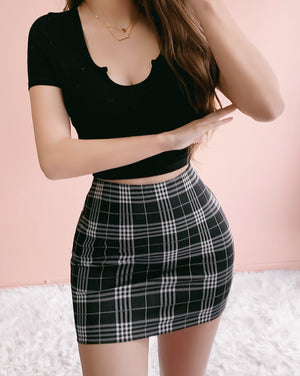 RESTOCKED! THE GIRL TO WORRY ABOUT PLAID SKIRT
