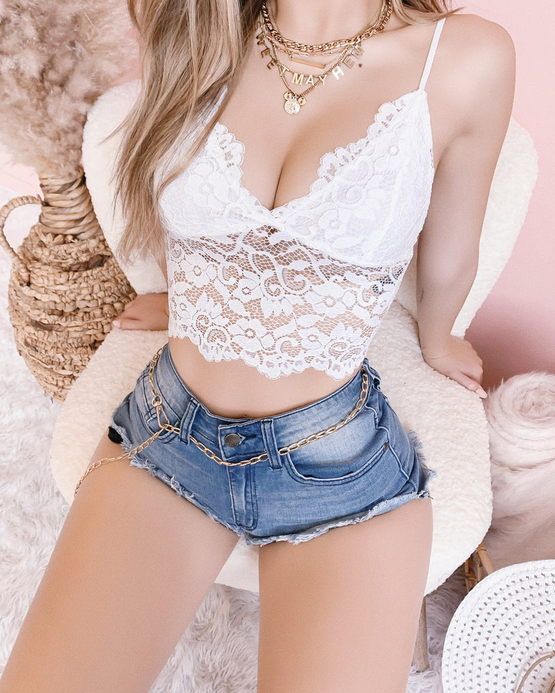 RESTOCKED! KIMBERLY LACE BRALETTE TOP (WHITE)