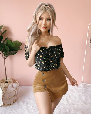 WILDFLOWER OFF SHOULDER TOP (BLACK)