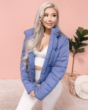 WINTER FEELS PUFFER JACKET (PERIWINKLE)