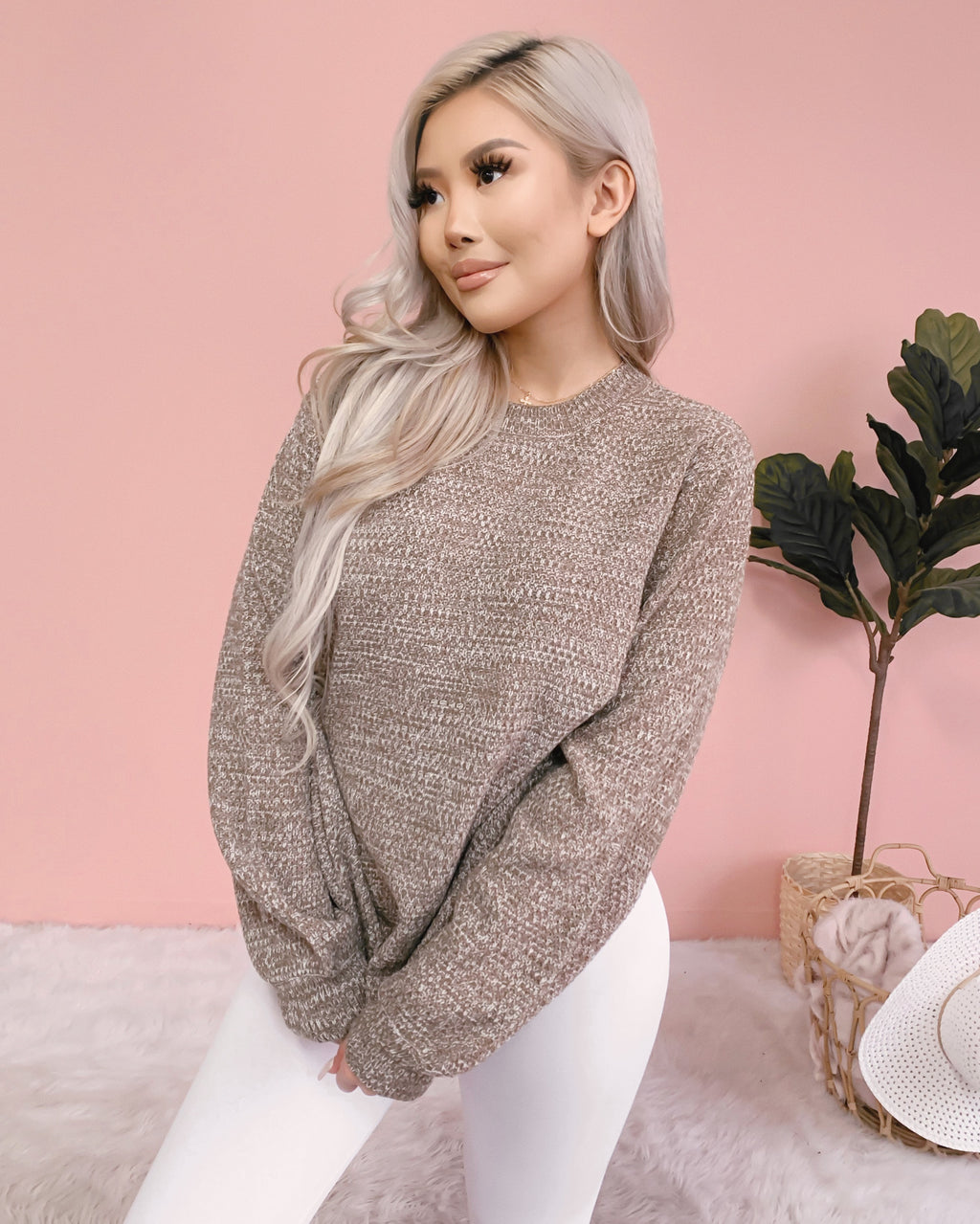 JENESSA KNIT SWEATER (MOCHA)
