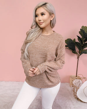 RESTOCKED! JENESSA KNIT SWEATER (MOCHA)