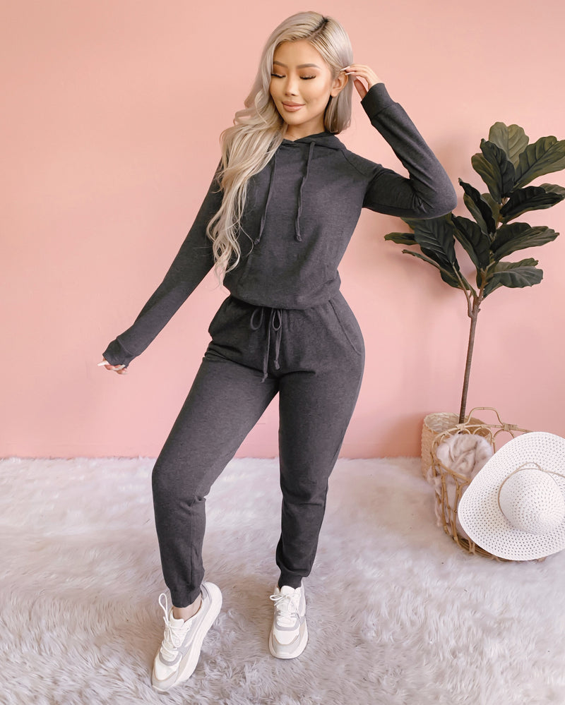 COZY CUTIE 2 PIECE LOUNGE SET (OATMEAL)