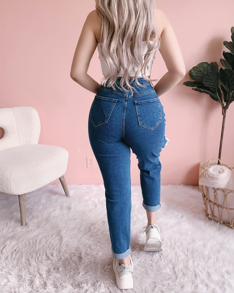LAS VEGAS DISTRESSED BOYFRIEND/MOM JEANS