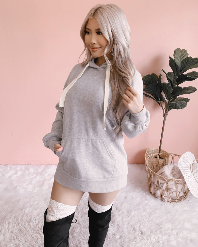 RESTOCKED! TERESA OVERSIZED SWEATER DRESS (GREY)