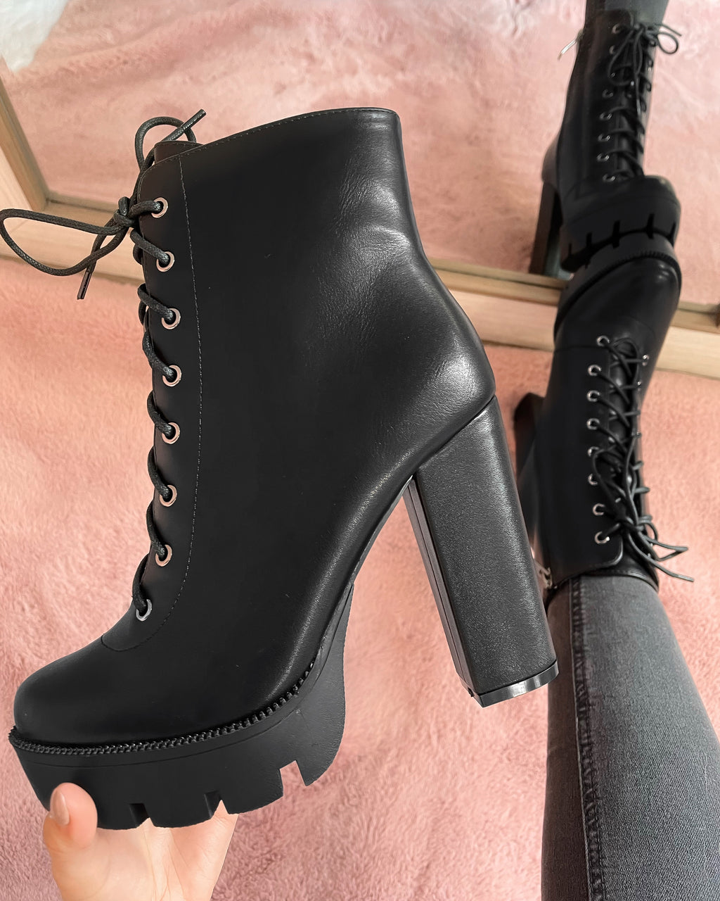 RESTOCKED! NICKI LACE UP BOOTIES