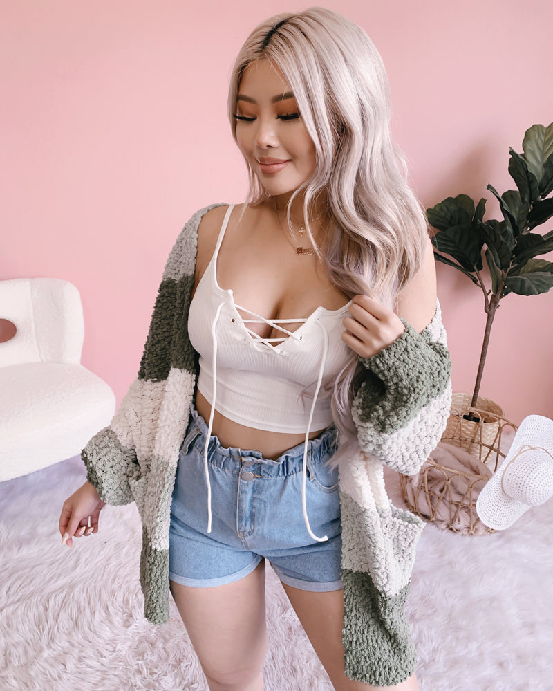 NEW COLOR!! MORNING MATCHA CARDIGAN