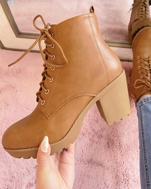 NEW COLOR!! SMALL TALK BOOTIE (TAN)