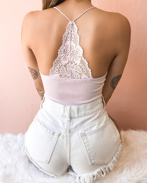OUT TO PLAY LACE RACERBACK BODYSUIT (WHITE)