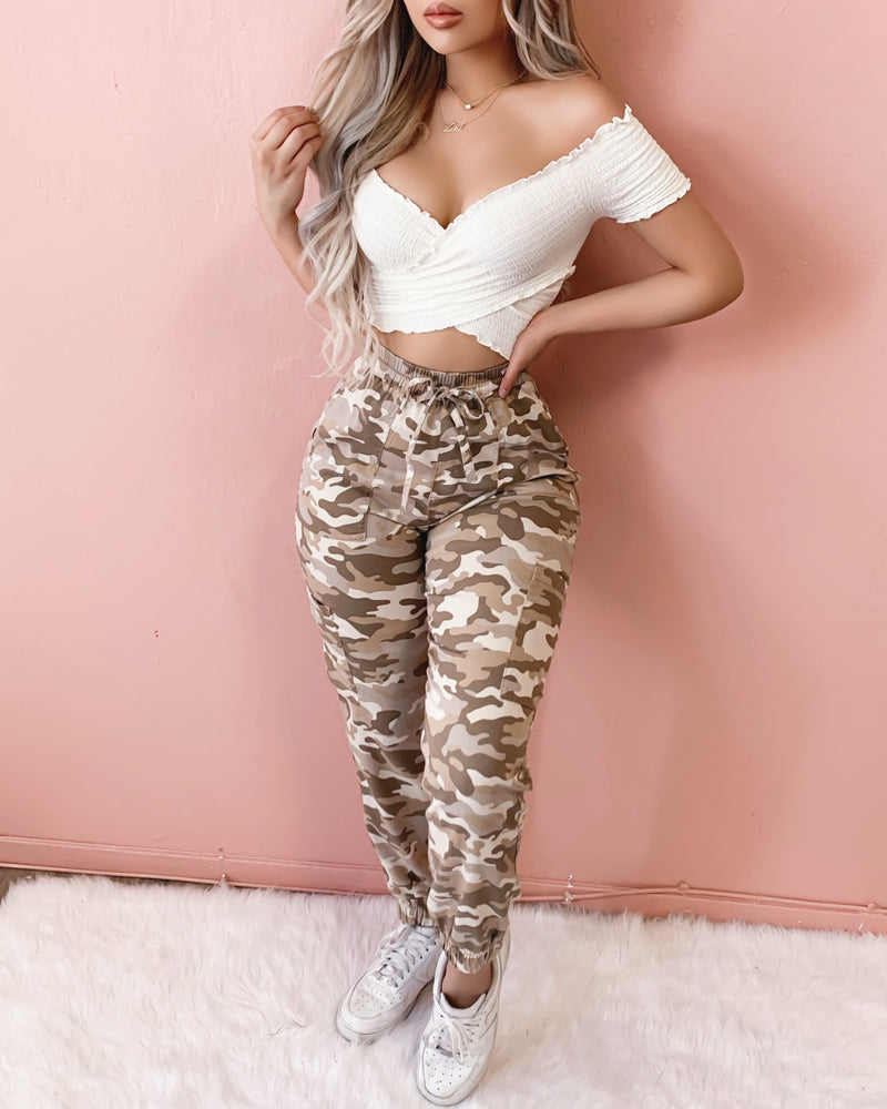 RESTOCKED! CATCH ME IF YOU CAN JOGGERS (CAMO)