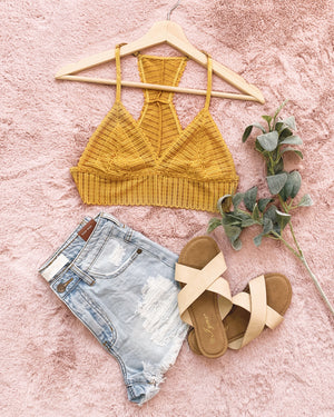 RESTOCKED! NEED YOUR LOVE LACE BRALETTE (MUSTARD)