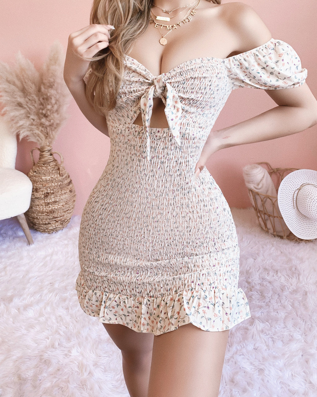 CANNOT RESTOCK! KISS ME SOFTLY DRESS (IVORY)