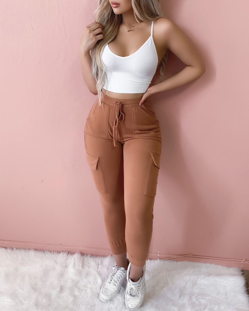 RESTOCKED! STUCK WITH YOU SOFT JOGGERS (CAMEL)
