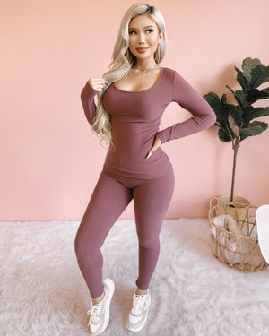 RESTOCKED! EASY TO LOVE 2 PIECE SET (GREY)