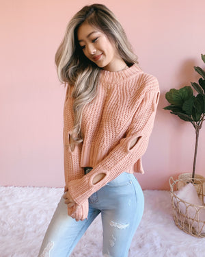 RESTOCKED! GIVE ME CHILLS SWEATER (PEACH)