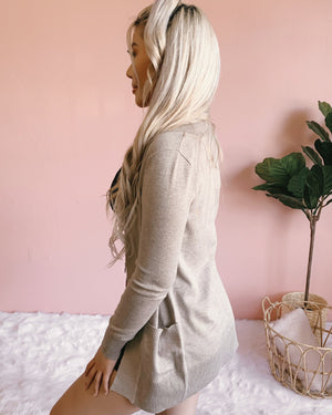 FALL ESSENTIALS CARDIGAN (TAUPE)