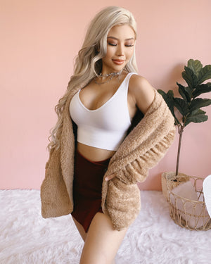 LOVE ME FUREVER TEDDY JACKET (IVORY)