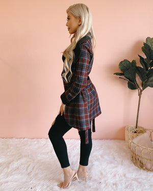 RESTOCKED! COZY NIGHT OUT PLAID JACKET