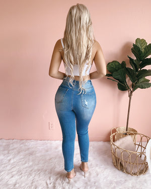 BOSTON HIGH WAIST SKINNY JEANS