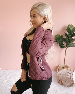 FUREVER & ALWAYS FUR LINED JACKET (MULBERRY)