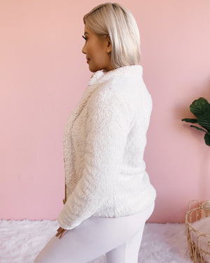 FAVORITE WINTER TEDDY JACKET (BLUSH)