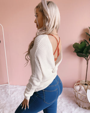 RESTOCKED! REVERSIBLE!! LESLIE KNIT SWEATER (IVORY)