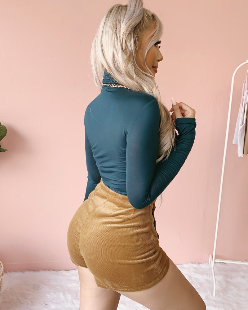 RESTOCKED! GEMMA TURTLENECK TOP (TEAL)