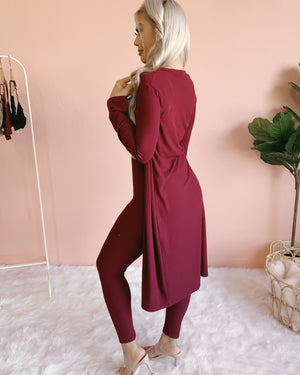 RESTOCKED! SUNDAY MORNING 2 PIECE SET (BURGUNDY)