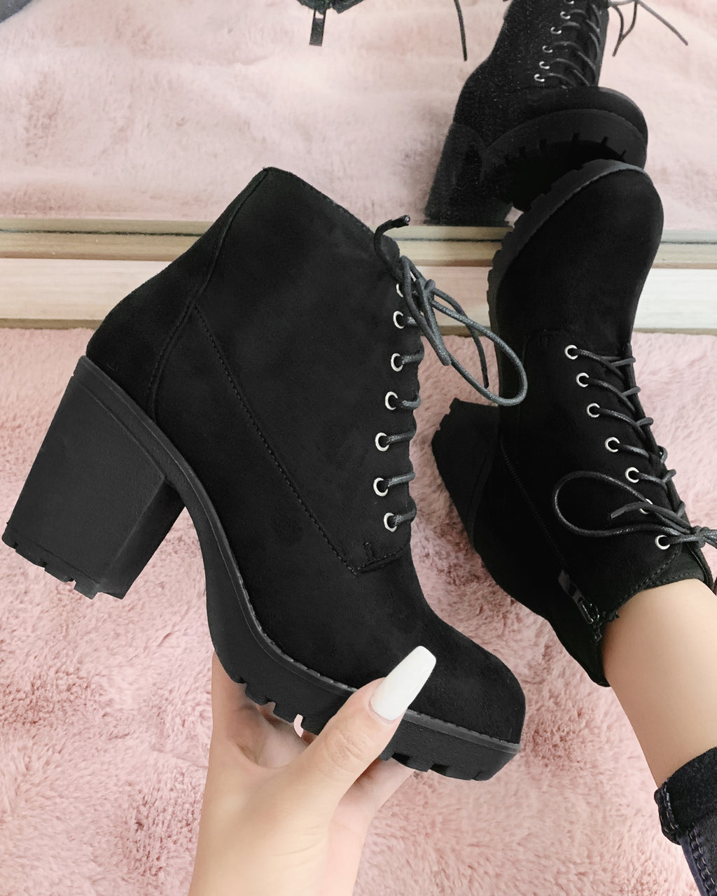 RESTOCKED! SMALL TALK BOOTIE (BLACK)
