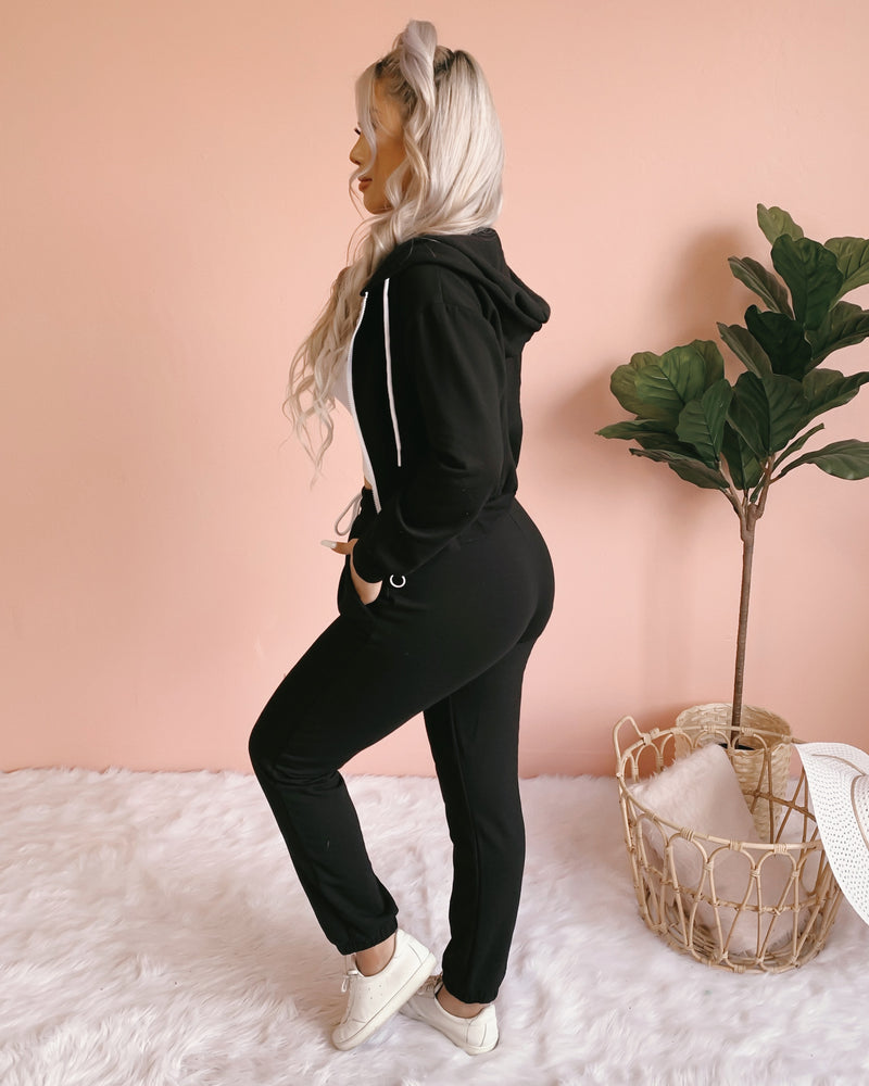 COZY AT HOME FLEECE HOODIE (BLUSH)