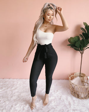 RESTOCKED! HIGH HOPES ONE SHOULDER BODYSUIT