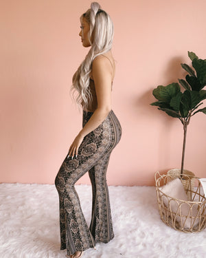 ABIGAIL HIGH RISE PANTS (BLACK/MOCHA)