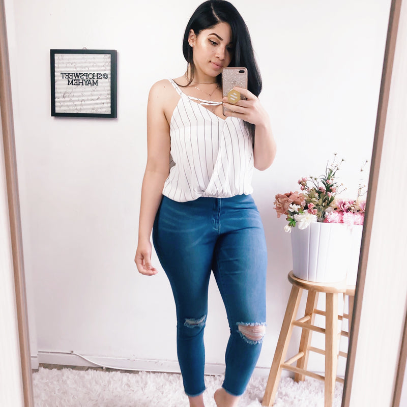 SHAY CRISS CROSS TOP (SUNSHINE)
