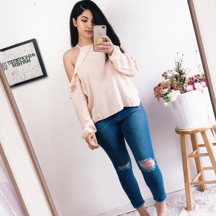 AMBER COLD SHOULDER TOP