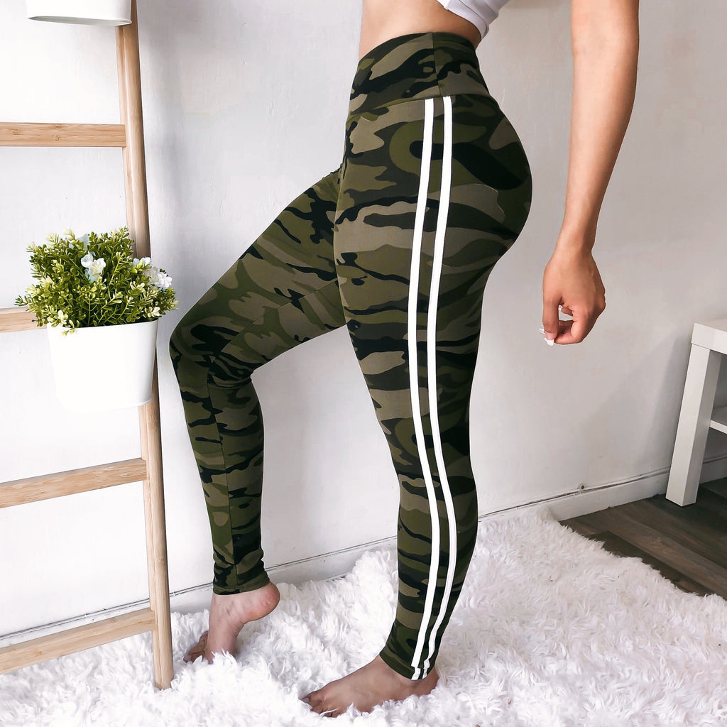RESTOCKED! SOFTEST SPORTY LEGGINGS EVER (CAMO)