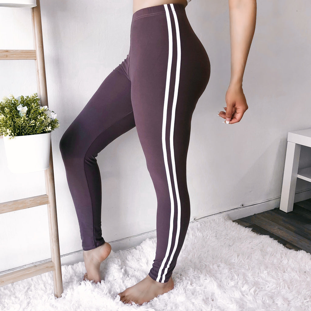 RESTOCKED! SOFTEST SPORTY LEGGINGS EVER (VIOLET)