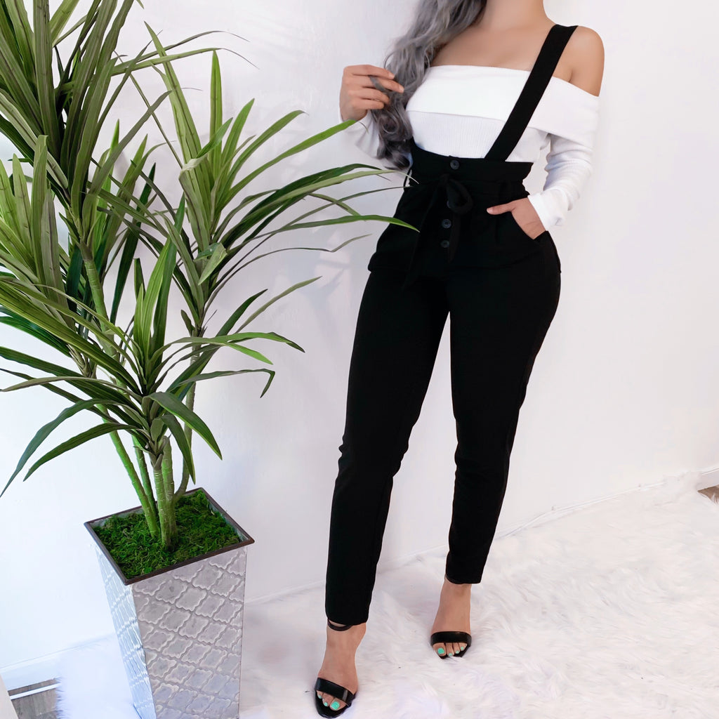 RESTOCKED! LAYLA SUSPENDER JUMPSUIT (BLACK)