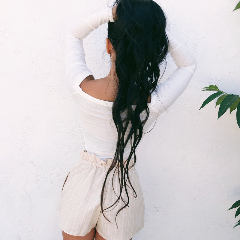RESTOCKED! PENELOPE PAPER BAG SHORTS (TAUPE) - ALL SIZES