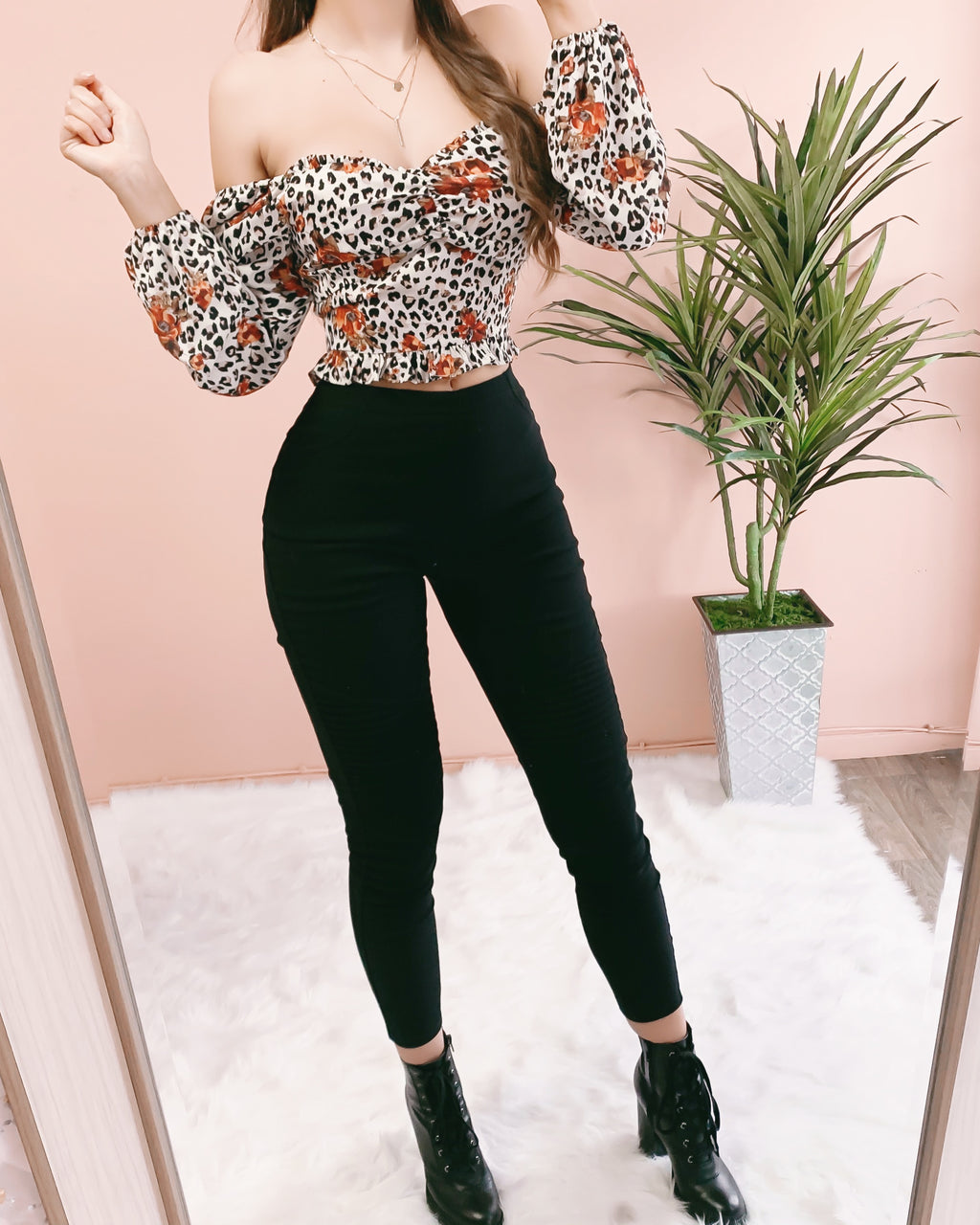 LILLY LEOPARD TOP