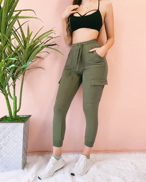 MY FAVE JOGGERS (OLIVE)