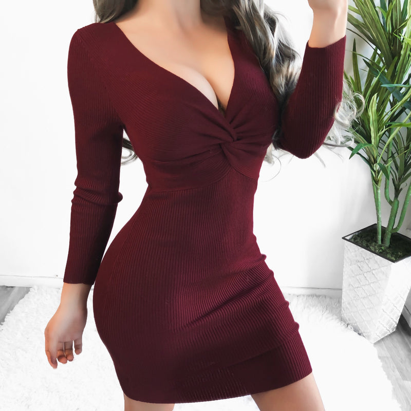 TULIP RIBBED DRESS - SMALL & LARGE