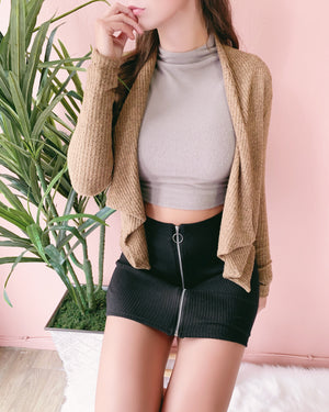 WARM UP TO ME CARDIGAN (CAMEL)