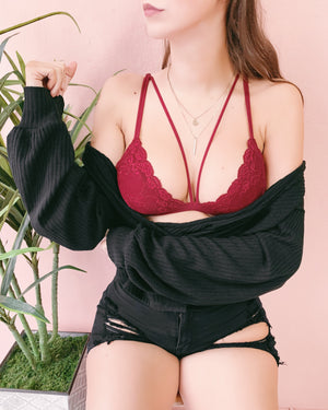 RESTOCKED! SIA STRAPPY BRALETTE (CHERRY)